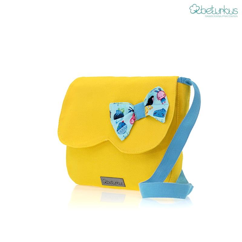 fac552dd Torebka na ramię dla dziewczynki żółta-Beturkus12