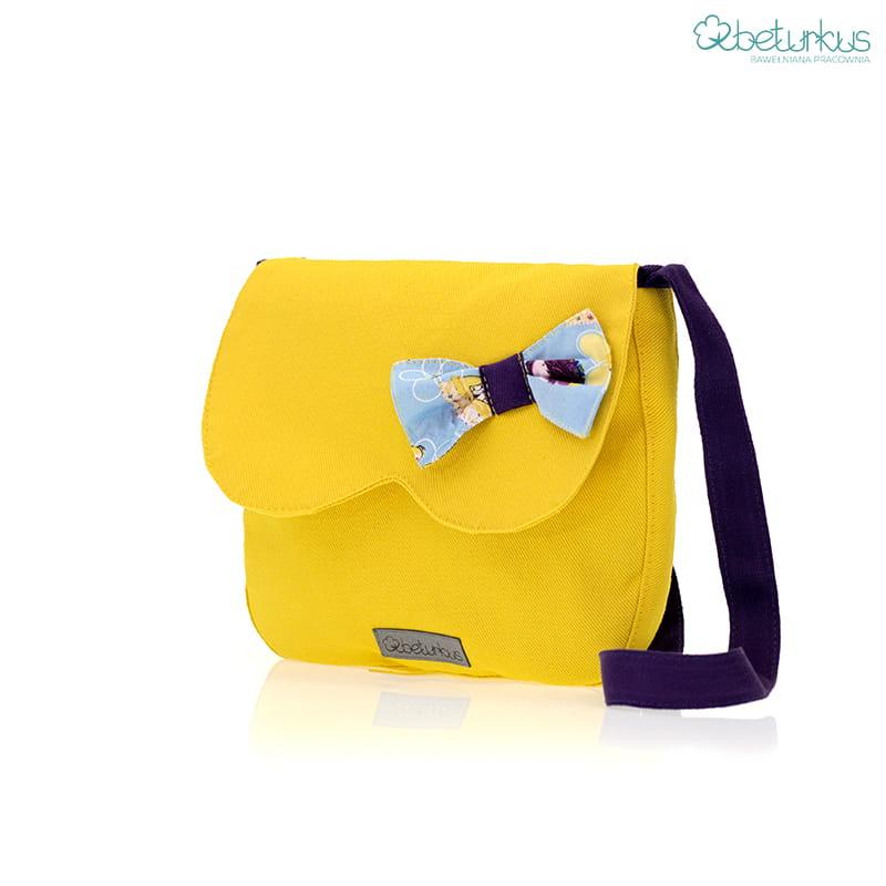 7dc8d37c Torebka na ramię dla dziewczynki żółta-Beturkus19