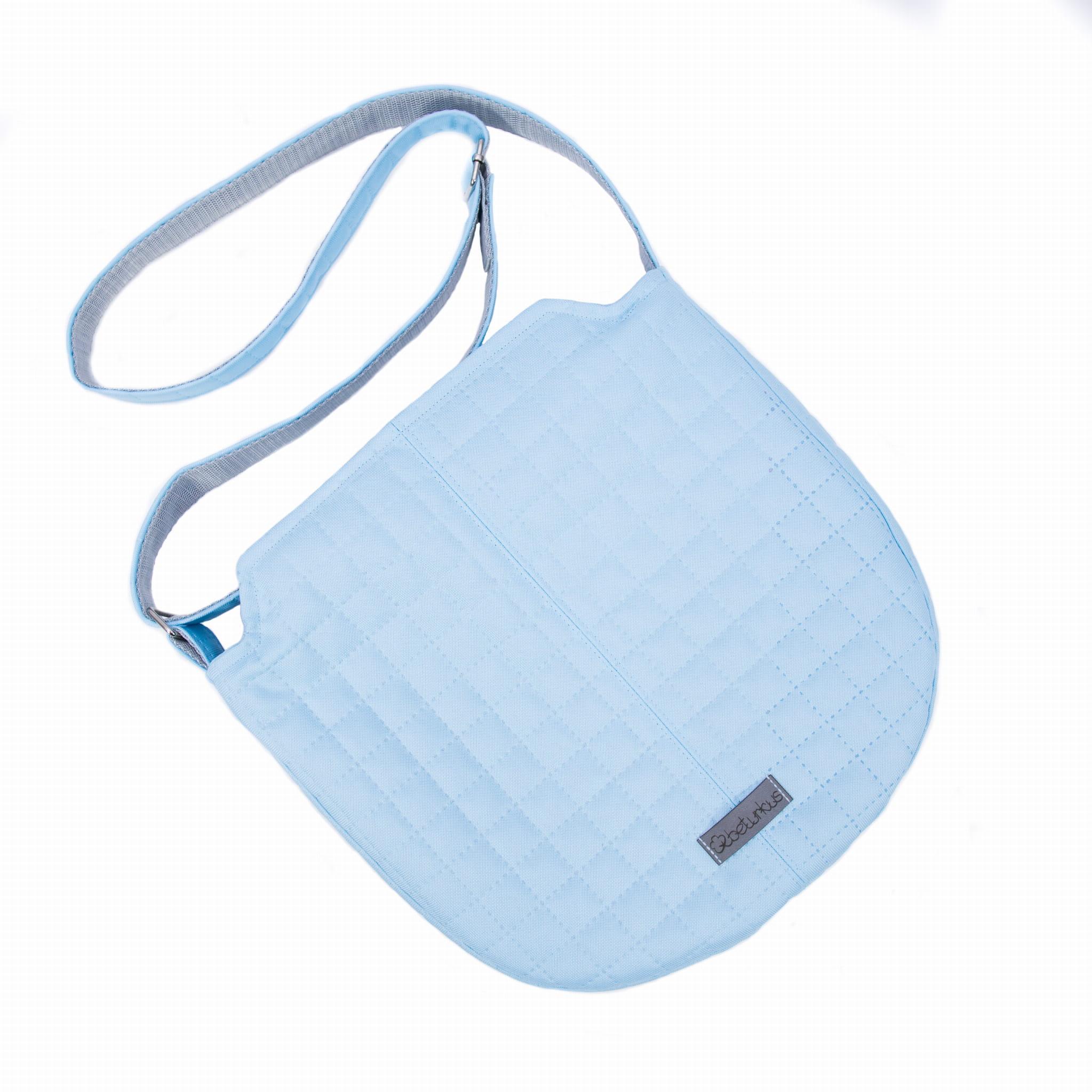 5c841c2b9cae7 ... sportowa torebka pikowana, pikowana listonoszka, niebieska blue torebka  na ramię, podręczna torebka na