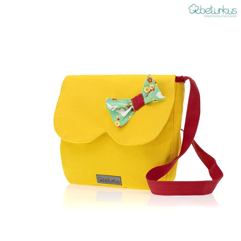6399d9a8 Torebka na ramię dla dziewczynki żółta-Beturkus17